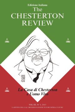 THE CHESTERTON REVIEW VOL. III N.1/2013
