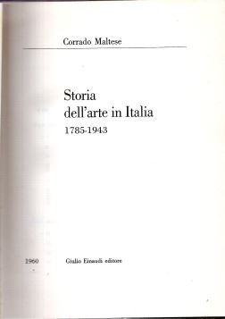 STORIA DELL'ARTE IN ITALIA 1785-1943 - FRI0000000353