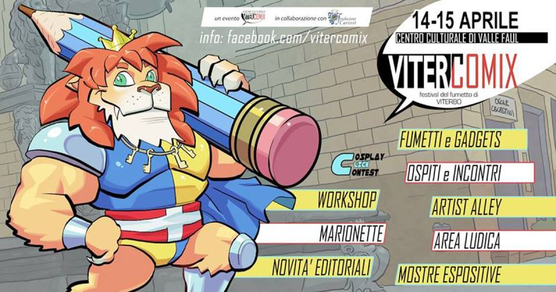 Arriva Vitercomix, festival del fumetto e del graphic novel a Viterbo